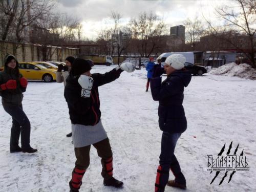Женская самооборона зимой